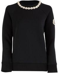 Moncler Genius 4 Moncler Simone Rocha Jewel Collar Sweater - Black