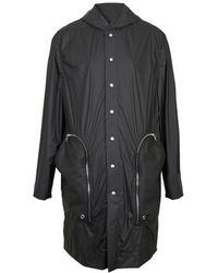 Rick Owens Manteau à capuche - Noir