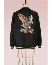RED Valentino - Embroidered Eagle Bomber - Lyst