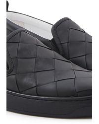 Bottega Veneta Leather Sneakers - Black