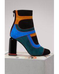 Pierre Hardy - Suede Heel Boots - Lyst