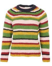 ALEXACHUNG Crew Neck Sweater - Green