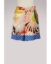 Gucci - Tropical Bird Silk Short - Lyst