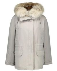 Army by Yves Salomon Parka Lined With Rabbit Fur - Grey