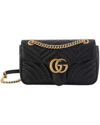 Gucci GG Marmont Crossbody Bag - Black