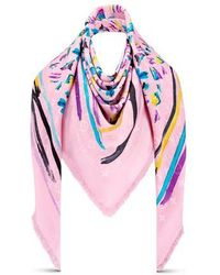 Louis Vuitton Splash Stroke Lv Shawl - Pink