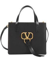 Valentino Petit sac à main Vring en cuir Garavani - Noir