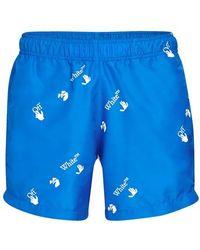 Off-White c/o Virgil Abloh Ow Swim Shorts - Blue