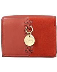 See By Chloé Tilda Mini Trifold Wallet - Red