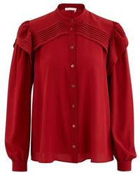 Chloé Long Sleeve Top - Red