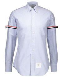 Thom Browne Oxford Cotton Shirt - Blue