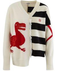 Loewe Dodo V-neck Sweater - Multicolor