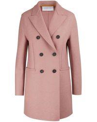 Harris Wharf London Felted Wool Coat - Pink