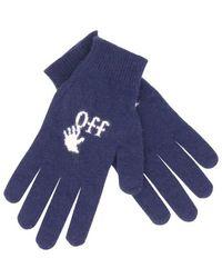 Off-White c/o Virgil Abloh Logo-Handschuhe - Blau