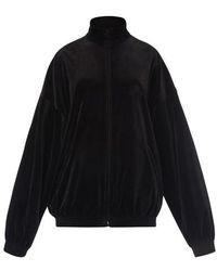 Balenciaga Zipped Sweatshirt - Black