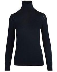 Loro Piana Piuma Turtle Neck Sweater. - Blue