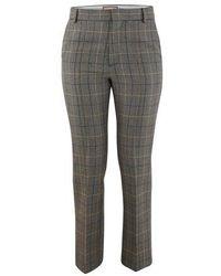 Plan C Wool Mix Pants - Grey