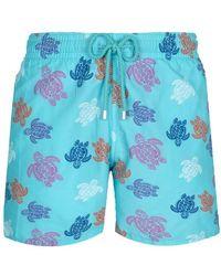 Vilebrequin Swimwear Ronde Des Tortues Indies - Blue