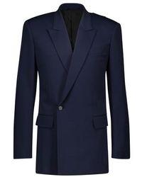 Balenciaga 80s Padded Shoulder Jacket - Blue