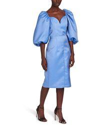ROTATE BIRGER CHRISTENSEN Irina Dress - Blue