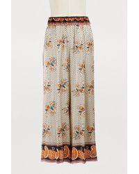 Fendi Pantalon large - Neutre