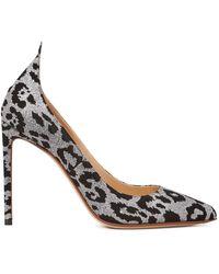 Francesco Russo Leopard Pumps - Black
