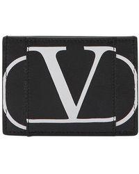Valentino Garavani Uomo Vlogo Cardholder - Black