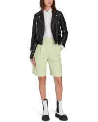 Acne Studios High Waist Bermuda Shorts - Green