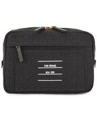 Thom Browne Paper Label Bum Bag - Gray