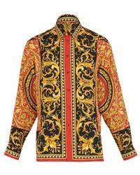 Versace Barocco Printed Silk Shirt - Multicolour