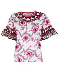 La DoubleJ Walk The Dog T-shirt - Multicolour