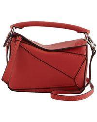 Loewe Puzzle Small Shoulder Bag - Red