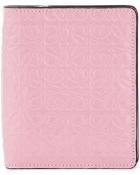 Loewe Portefeuille Compact zippé - Rose