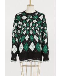 MSGM - Rhomb Pattern Sweater - Lyst