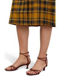 MANU Atelier Lace Sandals - Brown