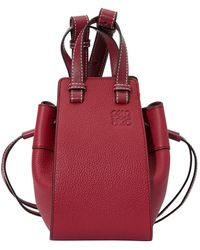 Loewe Mini Hammock Shoulder Bag - Red