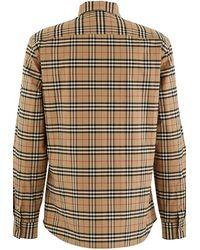 Burberry Shirts Beige - Multicolour