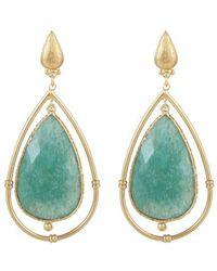 Gas Bijoux Serti Cage Earrings - Blue