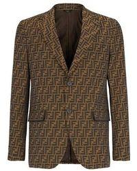 Fendi Fabric Blazer - Brown