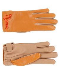 Marni Soft Shiny Nappa Leather Gloves - Brown