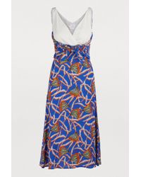 Stella Jean Midi Sleeveless Dress With Print