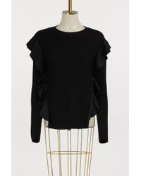 RED Valentino - Jumper With Satin Ruffles - Lyst