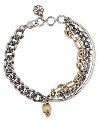 Alexander McQueen Bracelet multi-chaîne - Métallisé
