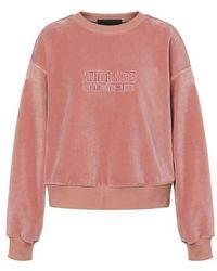 Alberta Ferretti Sweatshirt à col rond - Rose