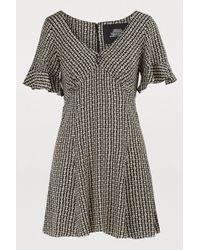 Marc Jacobs - Short-sleeved Silk Dress - Lyst