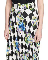 Off-White c/o Virgil Abloh Check Plisse Skirt - Multicolour