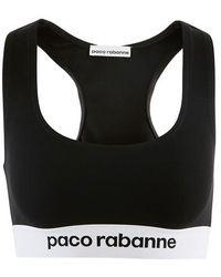 Paco Rabanne Jersey Bra Top - Black