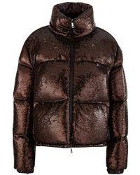 Moncler Rimac sequin down jacket - Braun