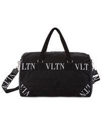 Valentino Vltn Boston Valentino Garavani Bag - Black