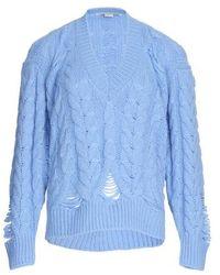 Stella McCartney Pull à col V - Bleu